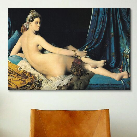 iCanvas 'Grande Odalisque' by Jean Auguste Ingres Painting Print on Canvas