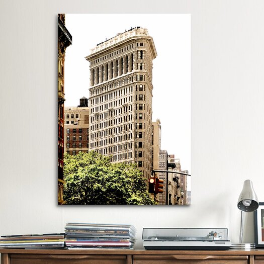 iCanvas 'Flatiron Building at 5th Ave and 34th' by Harold Silverman Photographic Print on Canvas