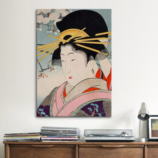 iCanvas A Courtesan Japanese Woodblock Painting Print on Canvas