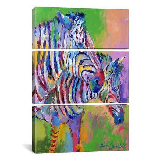 iCanvas Richard Wallich Zebra 3 Piece on Canvas Set