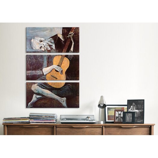 iCanvasArt Picasso The Old Guitarist Pablo 3 Piece on Canvas Set