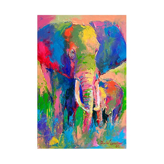 iCanvas 'Elephant' by Richard Wallich Painting Print on Canvas