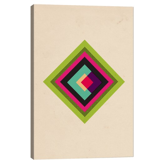 iCanvas Modern Art Mid Century Modern Diamond Color Composition (after Kandinsky) Graphic Art on Canvas