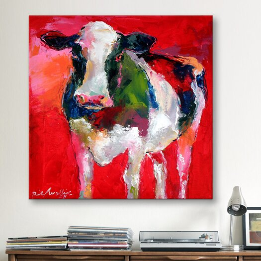 iCanvas 'Cow' by Richard Wallich Graphic Art on Canvas