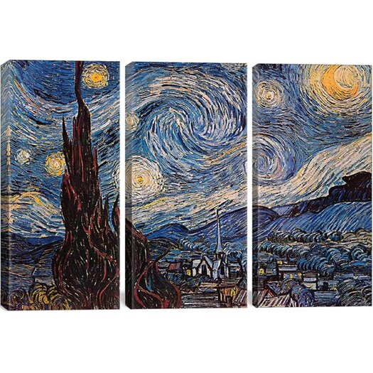 iCanvas 'The Starry Night' by Vincent Van Gogh Painting Print on Canvas