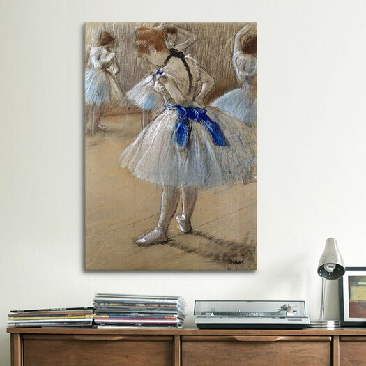 iCanvas 'A Study of a Dancer (Danseuse)' by Edgar Degas Painting Print on Canvas