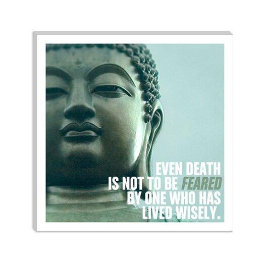 iCanvas Buddha Quote Canvas Wall Art