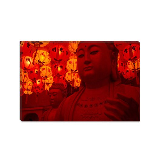 iCanvasArt Photography Buddha Statue Photographic Print on Canvas