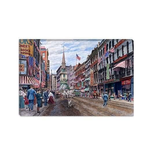iCanvas 'Boston' by Stanton Manolakas Painting Print on Canvas