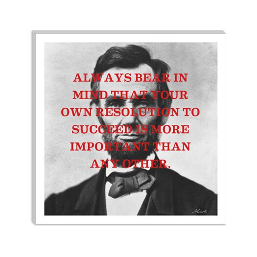 iCanvasArt Abraham Lincoln Quote Canvas Wall Art