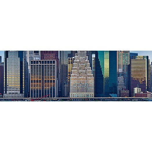 iCanvas Panoramic Skyscrapers in a City, New York City, New York State, 2011 Photographic Print on Canvas