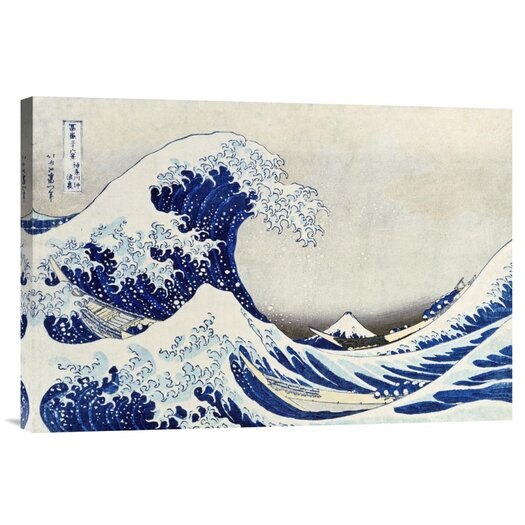 Bentley Global Arts 'The Great Wave of Kanagawa' by Hokusai Painting Print on Canvas