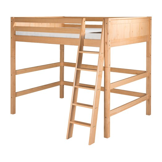 Camaflexi Full High Loft Bed with Panel Headboard