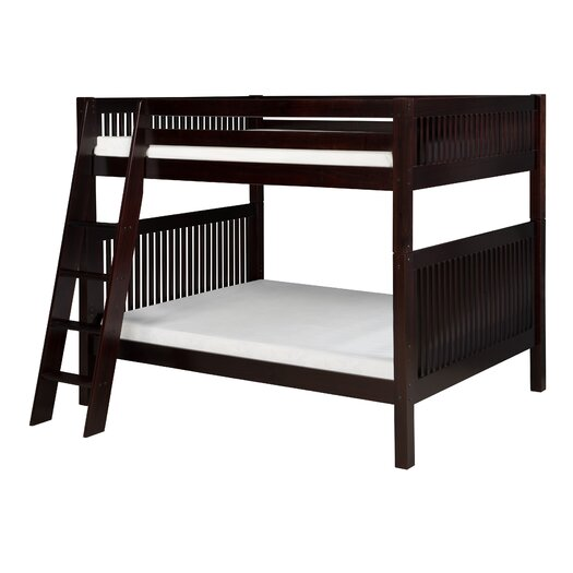 Camaflexi Full over Full Bunk Bed with Angle Ladder