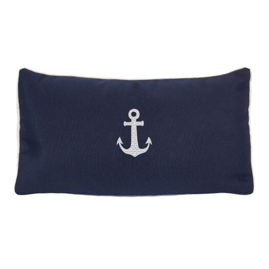 Nantucket Bound Sunbrella Beach Pillow with Embroidered Anchor and Terry Cloth backs