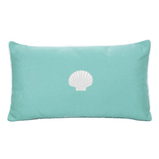 Nantucket Bound Sunbrella Beach Pillow with Embroidered Scallop and Terry Cloth backs