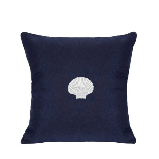 Nantucket Bound Scallop Embroidered Sunbrella Fabric Indoor/Outdoor Pillow