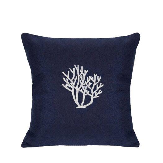 Nantucket Bound Sunbrella Lumbar Pillow With Embroidered Coral