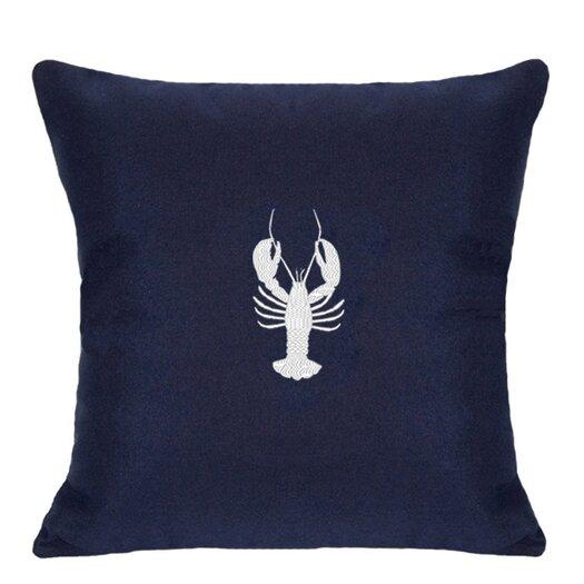 Nantucket Bound Lobster Embroidered Sunbrella Fabric Indoor/Outdoor Pillow