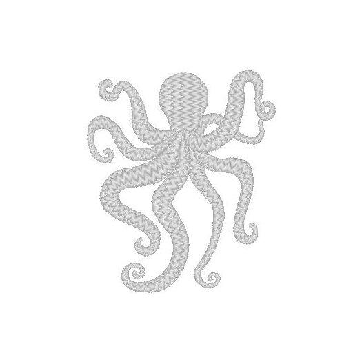Nantucket Bound Octopus Embroidered Sunbrella Fabric Beach Pillow