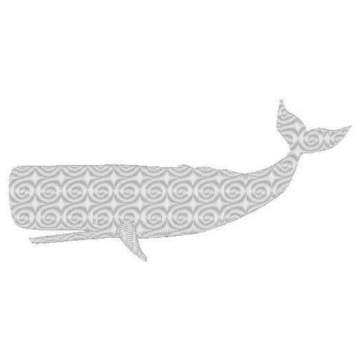 Nantucket Bound Whale Embroidered Sunbrella Fabric Indoor/Outdoor Pillow