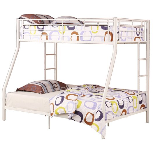 Home Loft Concept Sunrise Twin over Full Bunk Bed with Built In Ladder