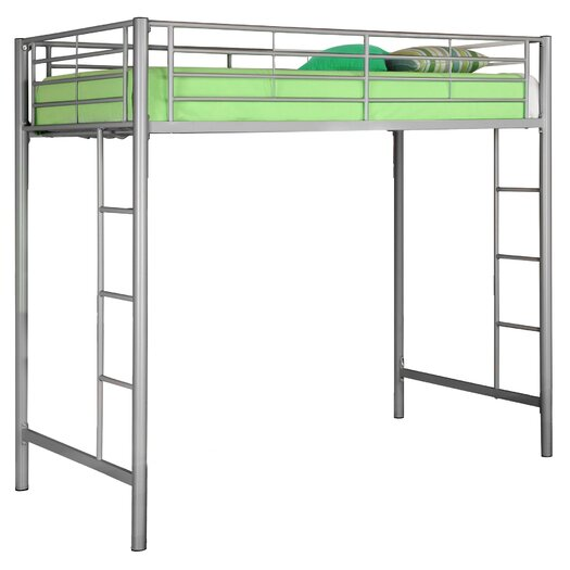 Home Loft Concept Twin Loft Bed with Built-In Ladder