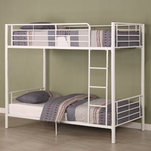 Home Loft Concept Brady Twin over Twin Bunk Bed with Built-In Ladder