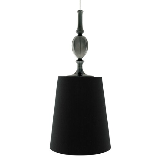 Tech Lighting Kiev 1 Light Mini Pendant with Smoke Fount