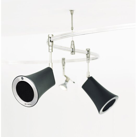 Tech Lighting Railtoness Two Speaker Kit with Two-Circuit Monorail Mount