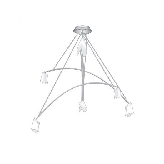 Tech Lighting Mini Crescendo 6 Light Chandelier