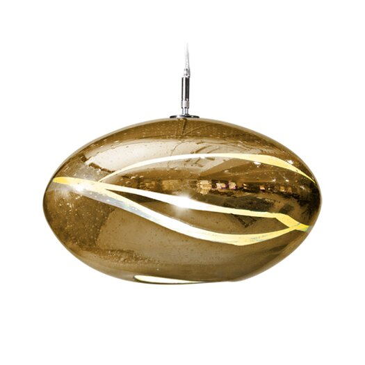 Tempo Luxury Home Collection Vista Swirl Orbit 1 Light Globe Pendant