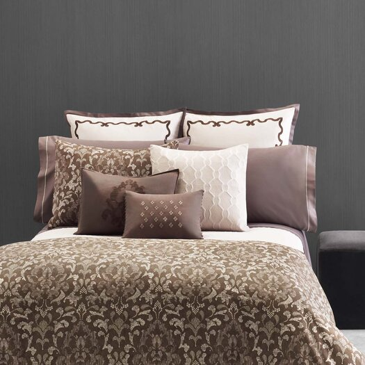 """Vera Wang Damask 20"""" x 20"""" Textured Quilted Decorative Down Pillow"""