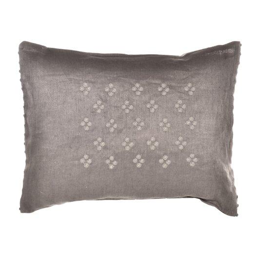 "Vera Wang Damask 12"" x 16"" Petit Pois Embroidered Decorative Down Pillow"