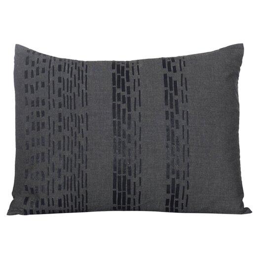 Vera Wang Pom Pom Interrupted Lines Decorative Throw Pillow