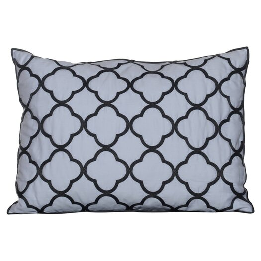 Vera Wang Pom Pom Embroidered Decorative Pillow