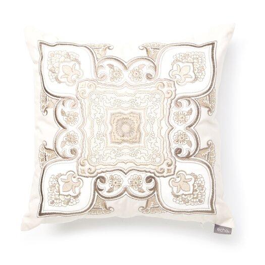 echo design Odyssey Cotton Faux Linen Square Pillow