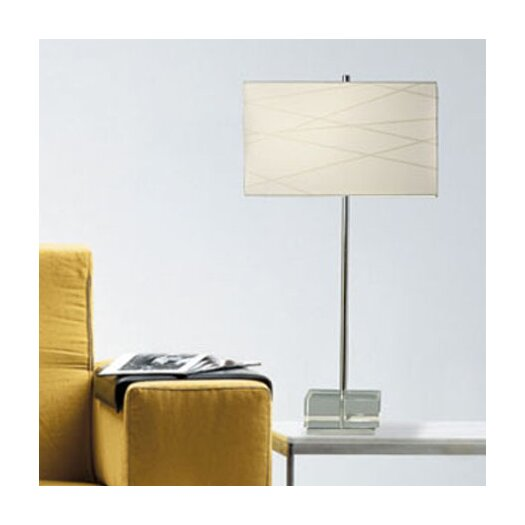 """Nova Criss Cross 28"""" H Table Lamp with Drum Shade"""