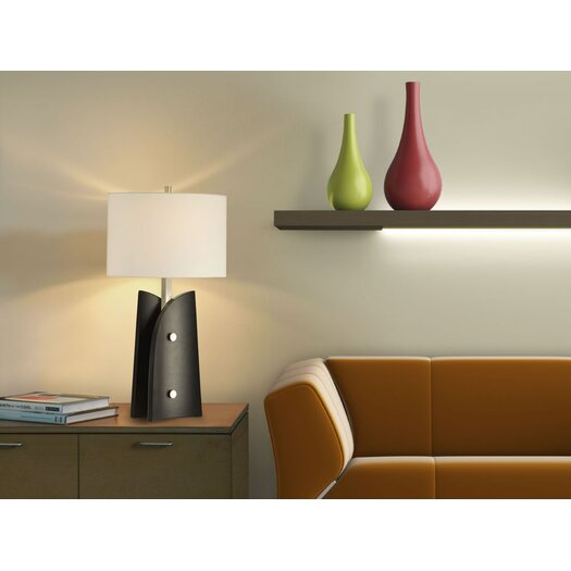 "Nova Sail 28"" H Table Lamp with Drum Shade"