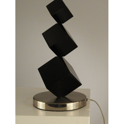 "Nova Cubes Standing 27"" H Table Lamp with Drum Shade"