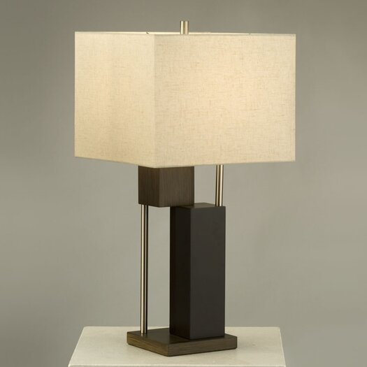 "Nova Bild 28"" H Table Lamp with Square Shade"