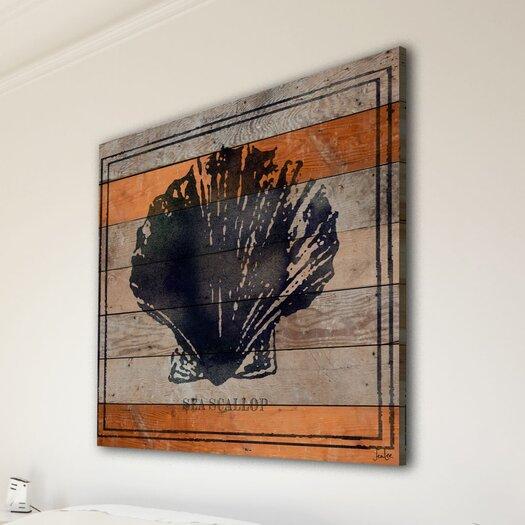 Jen Lee Art Sea Scallop Reclaimed Wood - Douglas Fir Art