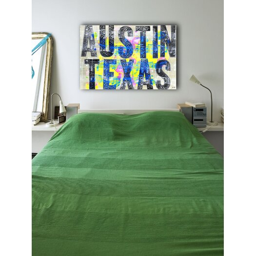 Jen Lee Art Austin Texas Textual Art on Canvas