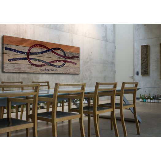 Jen Lee Art Reef Knot Reclaimed Wood - Douglas Fir Art