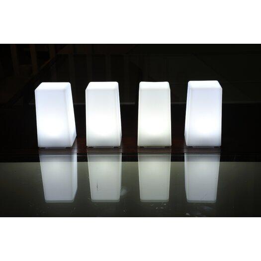 "Contempo Lights Inc LuminArt Nova 5"" H Table Lamp with Square Shade"
