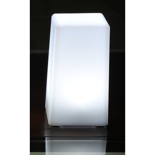 "Contempo Lights Inc LuminArt Nova 5"" H Table Lamp with Square Shade"