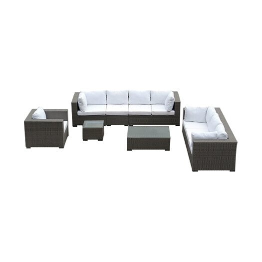 Beliani Maestro 7 Piece Deep Seating Group with Cushion