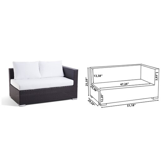 Beliani XXL Sectional 7 Piece Lounge Seating Group with Cushions
