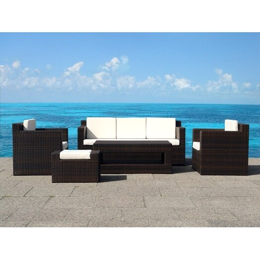 Beliani Roma 5 Piece Deep Seating Group with Cushion