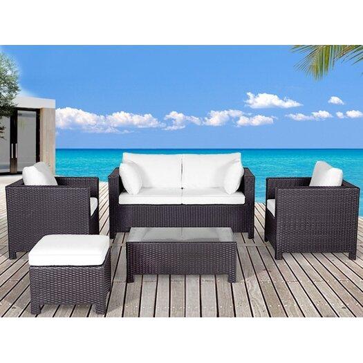 Beliani Milano 5 Piece Deep Seating Group with Cushion